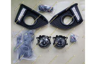 Туманки установочный комплект (LED, ДХО) Honda Fit с 2013г.-