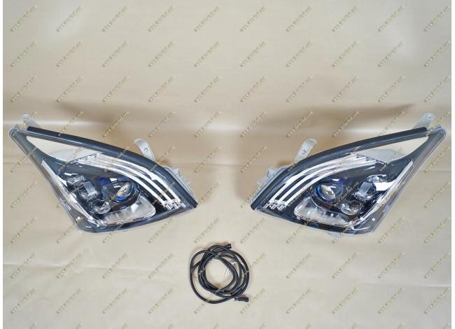 Фары диодные с линзами на Toyota Land Cruiser Prado 120