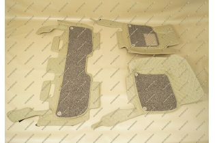 Коврики 3D в салон 2 слойные, эко-кожа на Lexus LX570 бежевые
