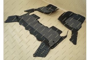 Коврики 3D в салон 2 слойные, эко-кожа на Lexus LX470 черные