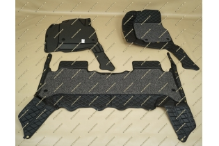 Коврики 3D в салон 2 слойные, эко-кожа на Toyota Land Cruiser 100 черные левый руль