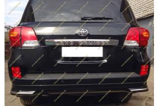 Губа задняя Urban Sport на Land Toyota Land Cruiser 200 07-15г. Черная