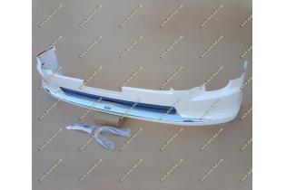 Губа Modellista на Toyota Land Cruiser 200 12-15г. Белая перл.