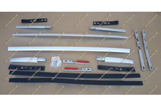 Рейлинги на крышу Nissan Qashqai 11  с 13г. Серебристые
