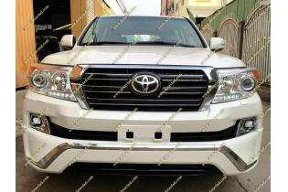 Рестайлинг перед+зад Toyota Land Cruiser 200 под 16год+обвес+стопы черный