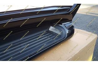 Подножки с подсветкой Toyota Land Cruiser 200, комплект, черные