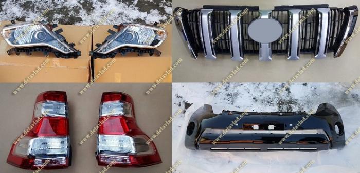 Комплект для рестайлинга Toyota Land Cruiser Prado 150 черный