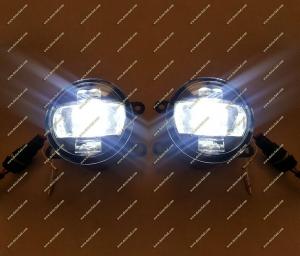 Диодные LED туманки + ДХО + поворотник для Lexus