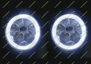 Диодные туманки + ангельские глазки Honda Fit с 2013г.-