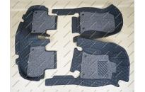 Коврики 3D в салон 2 слойные, эко-кожа на Subaru Forester с 2018г.- правый руль, черные