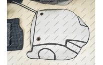Коврики 3D в салон 2 слойные, эко-кожа на Toyota Prius 50 с 2015.- правый руль, черные