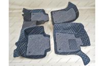 Коврики 3D в салон 2 слойные, эко-кожа на Crown 180  03-08г., правый руль, черные