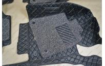 Коврики 3D в салон 2 слойные, эко-кожа на Crown 210  12-17г., правый руль, черные