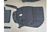 Коврики 3D в салон 2 слойные, эко-кожа на Honda Fit 14-19г., правый руль, черные