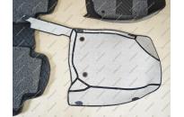 Коврики 3D в салон 2 слойные, эко-кожа на Toyota Rav4 2006-2012г. левый руль, черные