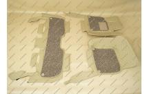 Коврики 3D в салон 2 слойные, эко-кожа на Toyota Land Cruiser 200 бежевые