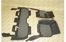 Коврики 3D в салон 2 слойные, эко-кожа на Toyota Land Cruiser 200 черные
