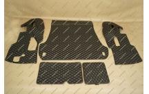 Коврик 3D в багажник, эко-кожа на Toyota Land Cruiser 200 5 мест черный