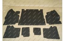 Коврик 3D в багажник, эко-кожа на Toyota Land Cruiser Prado 150 5 мест черный