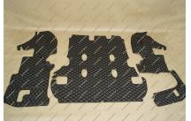Коврики 3D в багажник, эко-кожа на Toyota Land Cruiser 200 7 мест черные