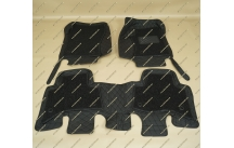 Коврики 3D в салон 2 слойные, эко-кожа на Toyota Land Cruiser Prado 150 правый руль черные
