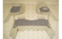 Коврики 3D в салон 2 слойные, эко-кожа на Toyota Land Cruiser 100 бежевые правый руль