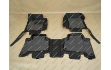 Коврики 3D в салон 2 слойные, эко-кожа на Lexus GX470 черные