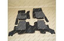 Коврики 3D в салон 2 слойные, эко-кожа на Mercedes G-Class черные