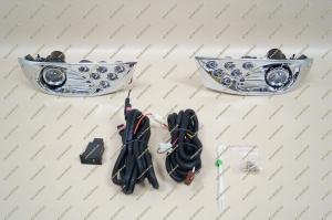 Туманки диодные на Toyota Land Cruiser Prado 120 хром