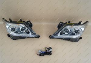 Фары диодные на Lexus LX570 12-15г. c бегающим поворотником