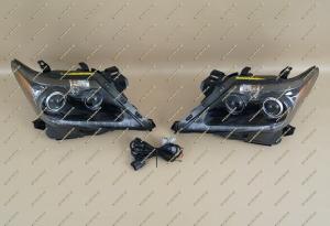 Фары диодные на Lexus LX570 12-15г. c бегающим поворотником  Anniversary 25th