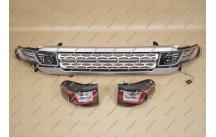 Рестайлинг комплект на Toyota FJ Cruiser под Range Rover (фары+стопы+решетка)