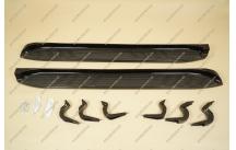 Подножки на Toyota Land Cruiser Prado 120, комплект, черные