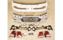 Рестайлинг комплект+обвес Executive под 2016г. на Toyota Land Cruiser 200 белый перламутр