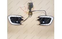 Ходовые огни + поворотник Mitsubishi Pajero Sport 13-15г.