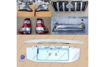 Комплект для рестайлинга Toyota Land Cruiser Prado 150 серебристый, полный