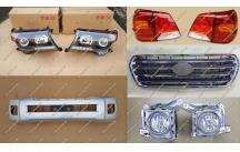 Рестайлинг комплект Тип 2 на Toyota Land Cruiser 200 Brownstone серебристый