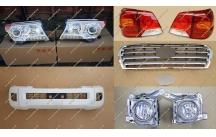 Рестайлинг комплект Тип 2 на Toyota Land Cruiser 200 белый перламутр