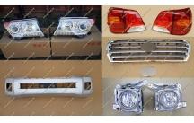 Рестайлинг комплект Тип 2 на Toyota Land Cruiser 200 серебристый