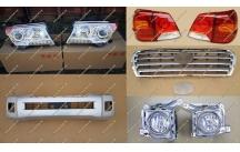 Рестайлинг комплект Toyota Land Cruiser 200 серебристый, тип 2, полный