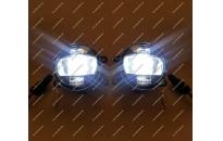 Диодные LED туманки + ДХО + поворотник для Nissan