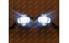 Диодные LED туманки + ДХО + поворотник для Mitsubishi