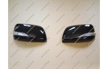 Корпуса зеркал стиль Lexus на Toyota Land Cruiser 200 12-15г. черные