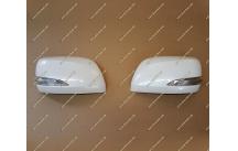 Корпуса зеркал стиль Lexus на Toyota Land Cruiser 200 12-15г. белые перл.