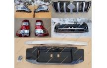 Комплект для рестайлинга Toyota Land Cruiser Prado 150 черный, полный