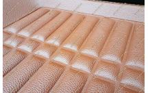 Стильные 3D коврики в салон. Оранжевые