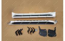 Подножки Toyota Land Cruiser Prado 150 стиль lexus, комплект, белые (перламутр)