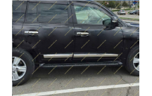 Подножки Toyota Land Cruiser 200, комплект, черные