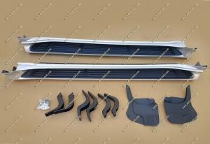 Подножки Toyota Land Cruiser Prado 150 стиль lexus, комплект, серебристыe