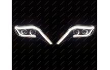 Тюнинг фары Toyota Land Cruiser Prado 150 стиль Mercedes с 13г.-